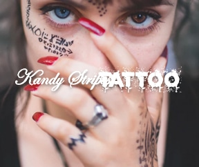 Kandy Stripes Tattoo